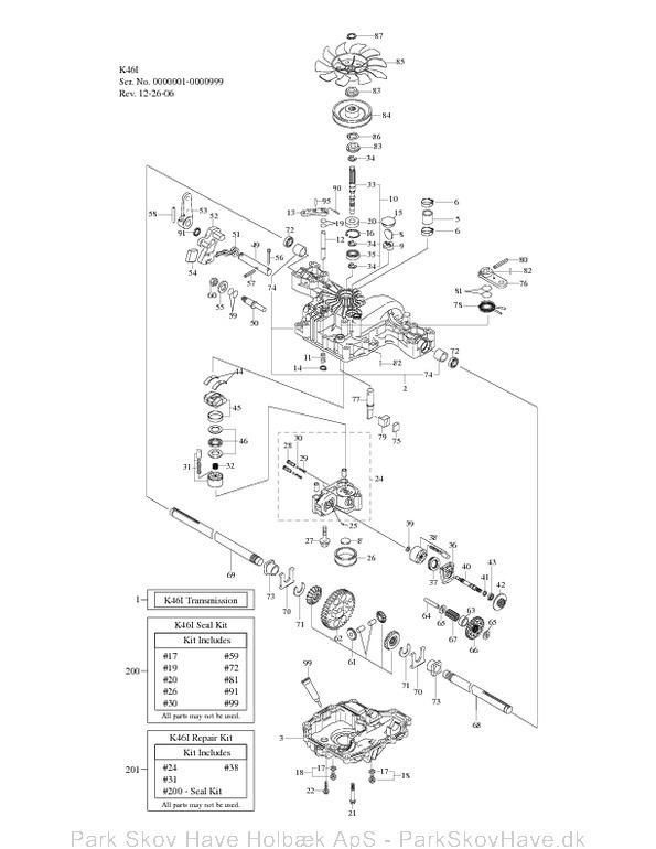 Reservedel Tuff Torq Transmission K46 I 2007 Manual Guide