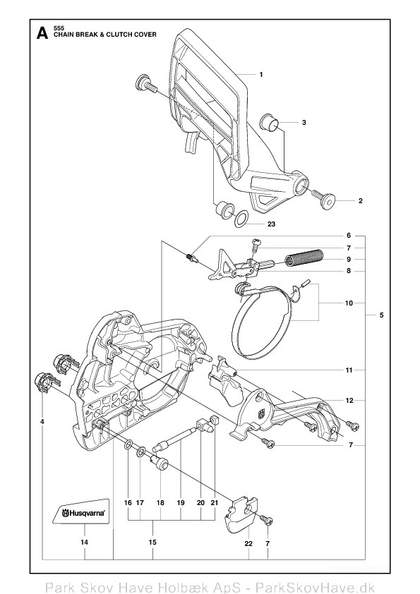 Reservedel Husqvarna 555, 2011-03, Chain Saw  side 2