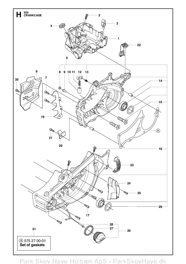 Reservedel Husqvarna 555, 2011-03, Chain Saw  side 16
