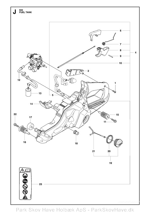 Reservedel Husqvarna 555, 2011-03, Chain Saw  side 18