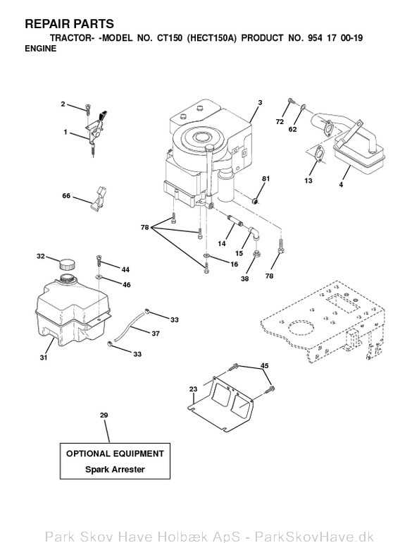 Reservedel Husqvarna CT150, HECT150A, 2000-01, Tractor  side 12