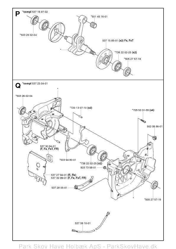 Reservedel Husqvarna 343 R, 345 Rx, 343 F, 343 FR, 345 Fx, 345 FxT, 2006-10, Brush Cutter  side 12