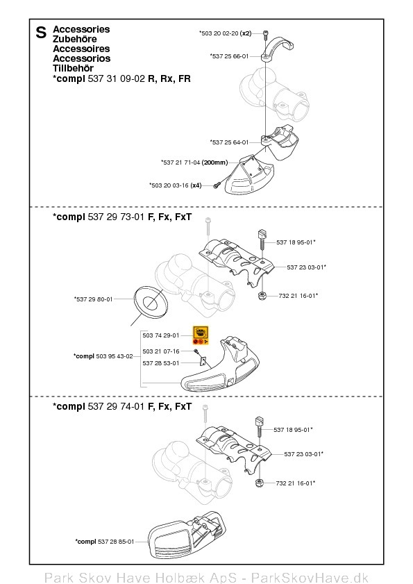 Reservedel Husqvarna 343 R, 345 Rx, 343 F, 343 FR, 345 Fx, 345 FxT, 2006-10, Brush Cutter  side 16