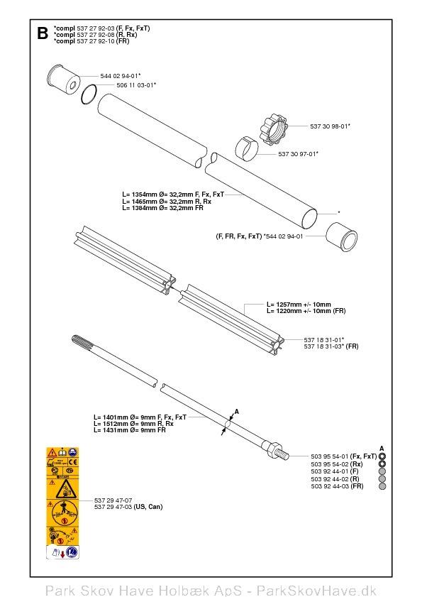 Reservedel Husqvarna 343 R, 345 Rx, 343 F, 343 FR, 345 Fx, 345 FxT, 2006-10, Brush Cutter  side 3