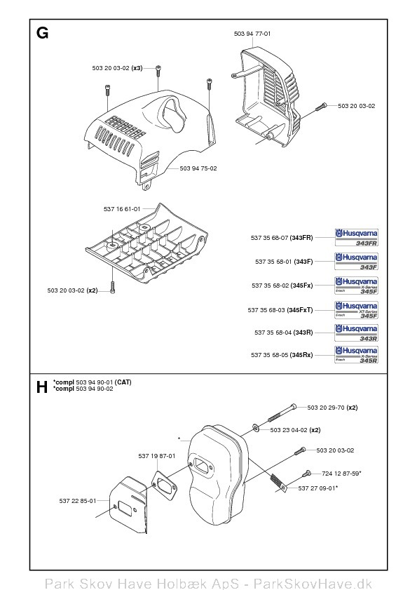 Reservedel Husqvarna 343 R, 345 Rx, 343 F, 343 FR, 345 Fx, 345 FxT, 2006-10, Brush Cutter  side 8