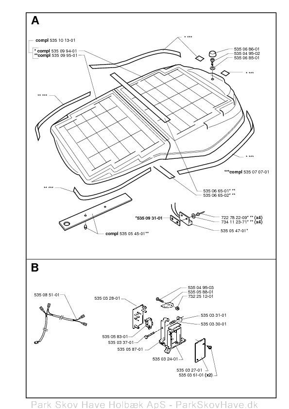 Reservedel Husqvarna Solar Mower, 2001-01  side 2
