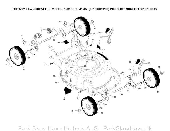 Reservedel Husqvarna M145, 96131002200, 2007-03, Lawn Mower  side 4