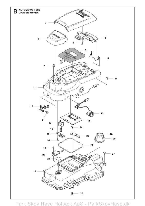 Reservedel Husqvarna Automower 305, 2011-04, rev1  side 4