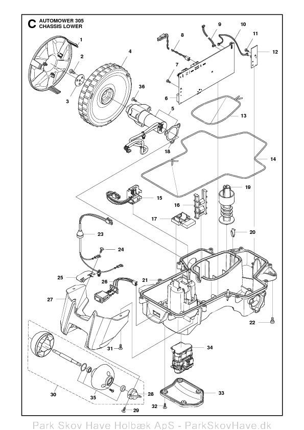 Reservedel Husqvarna Automower 305, 2011-04, rev1  side 6