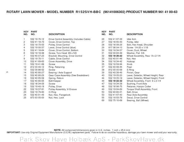 Reservedel Husqvarna R152 SVH-BBC, 96141006302, 2008-02, Lawn Mower  side 5