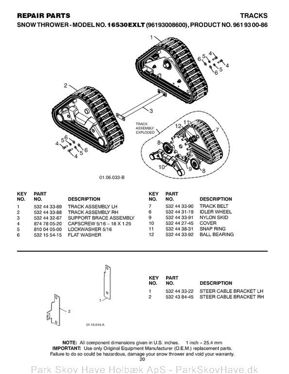 Reservedel Husqvarna 16530EXLT, 2011-08, 532443567, AAaa, 96193008600  side 20