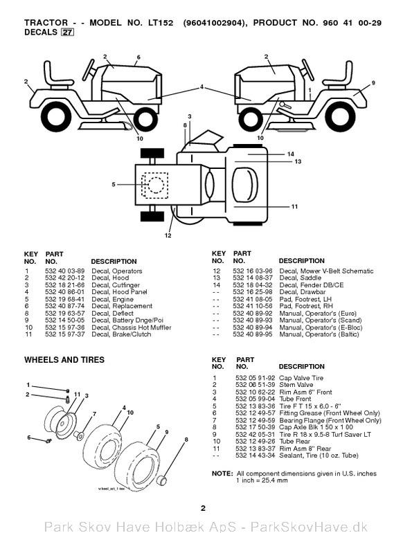 Reservedel Husqvarna LT152, 96041002904, 2008-09, Tractor  side 3