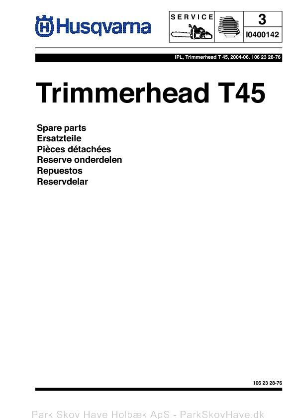 Reservedel Husqvarna Trimmer Head, T45, 2004-06, Accessories